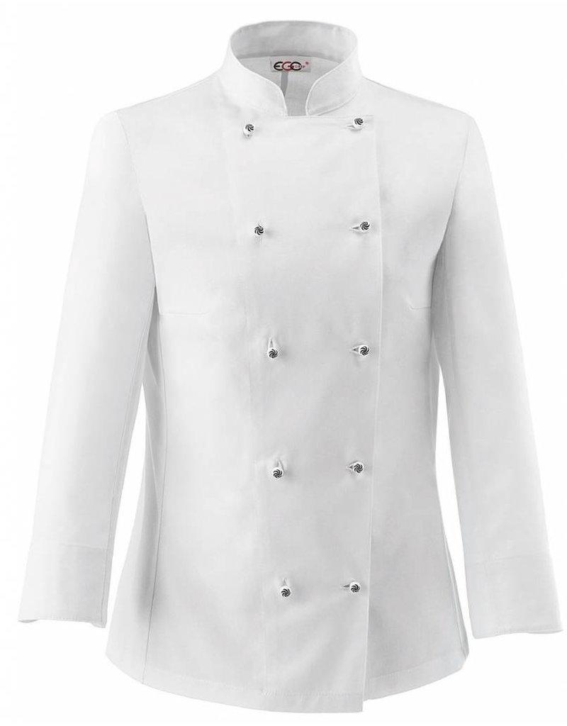 egochef veste cuisine femme blanche - nibetex - vêtement de ... - Vetement Cuisine Femme