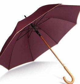 """KIMOOD parapluie poignée bois 23"""""""
