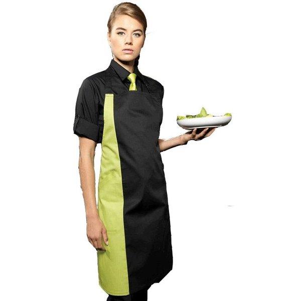 Tablier de cuisine à bavette couleur contrasté