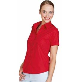 KARIBAN chemise femme popeline manches courtes K544