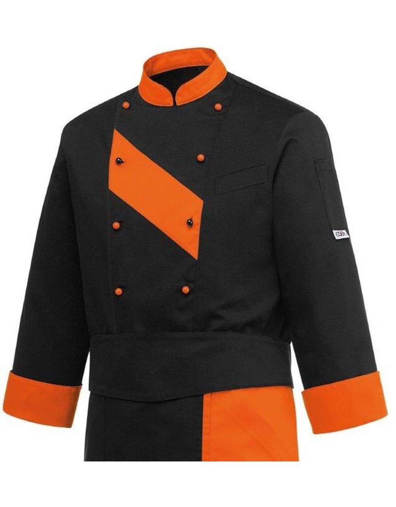 veste cuisine patch orange - Veste De Cuisine Orange