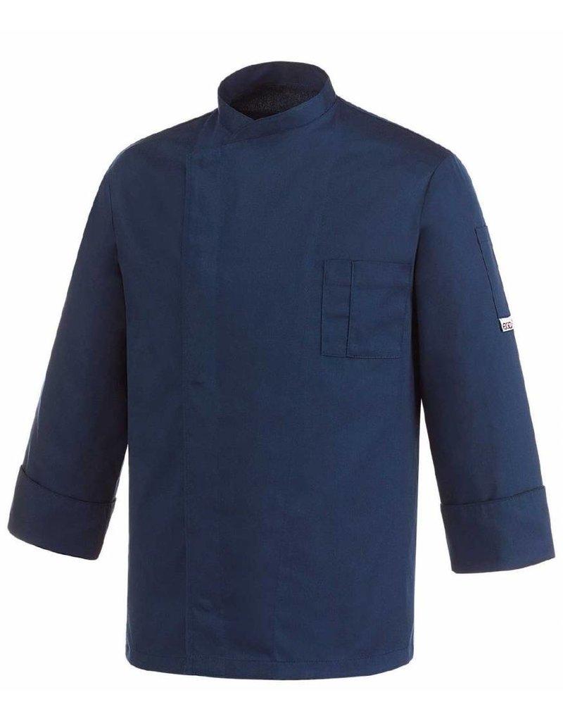 egochef veste cuisine bleu marine boutons pressions. Black Bedroom Furniture Sets. Home Design Ideas