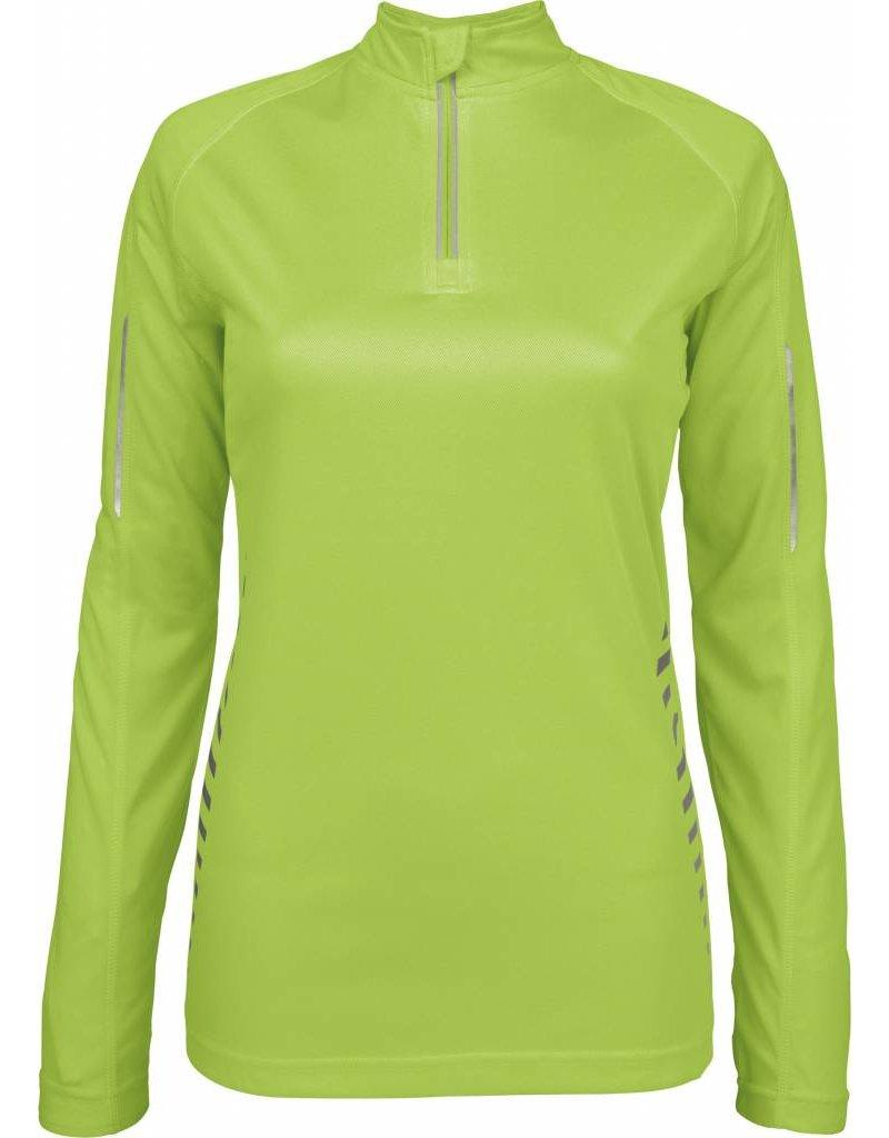 proact tee shirt zip sport femme manches longues nibetex v tement de travail objets. Black Bedroom Furniture Sets. Home Design Ideas