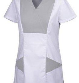 ROBUR tunique médicale femme Lantana blanc/gris