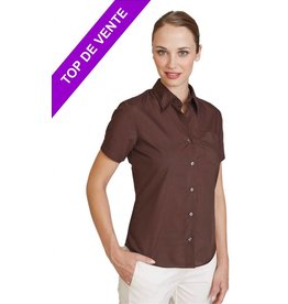KARIBAN chemise femme judith manches courtes K548