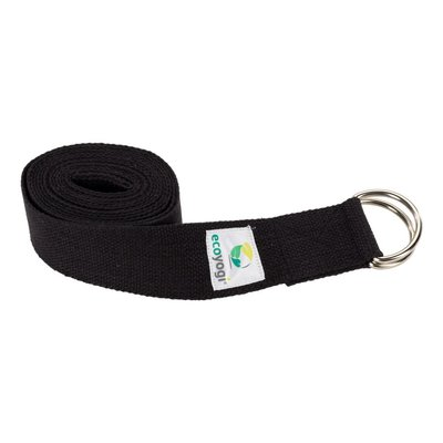 Ecoyogi Yogagurt Schwarz - D-Ring