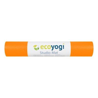 Ecoyogi Studio Yogamatte - Orange - 183 cm