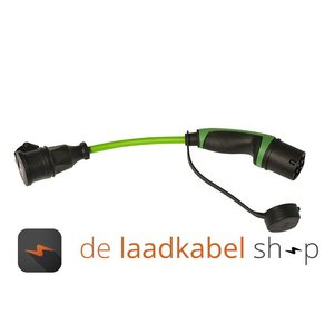 Ratio laadkabels Kabel adapter Type 2 male - shuko 0,5 meter