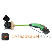 Ratio laadkabels Kabel adapter Type 1 male - type 2 female 1 meter