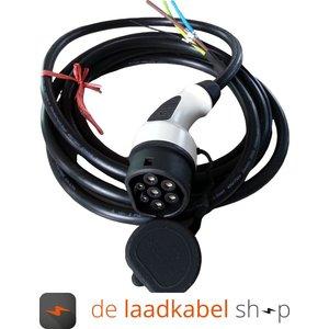 DOSTAR 16A 1 fase aansluitkabel met Female type 2 stekker - Kabel op maat