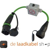 Ratio laadkabels Kabel adapter Type 2 male - shuko met sleutel schakelaar 0,5 meter