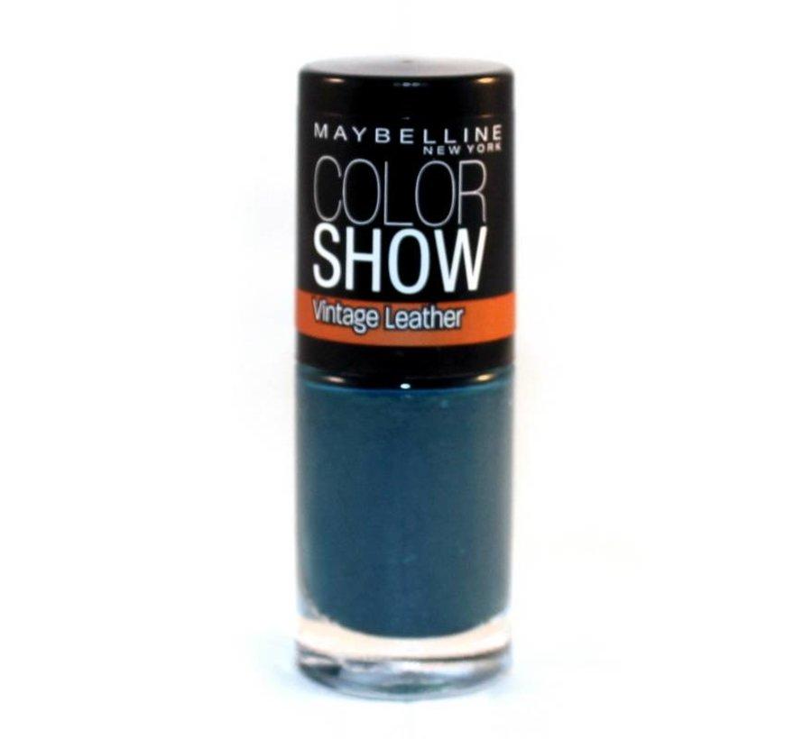 Color Show Vintage Leather - 207 Turquoise Temptation - Nagellak