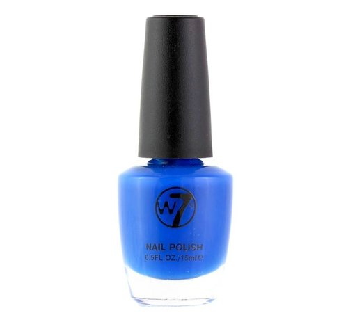 W7 Make-Up - 17 Fluorescent Blue - Nagellak