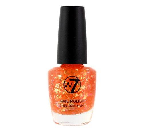 W7 Make-Up - 169 Orange Flakes - Nagellak