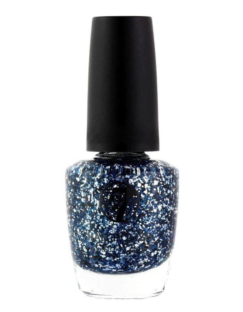 W7 Make-Up - 133 Blue Debris - Nagellak