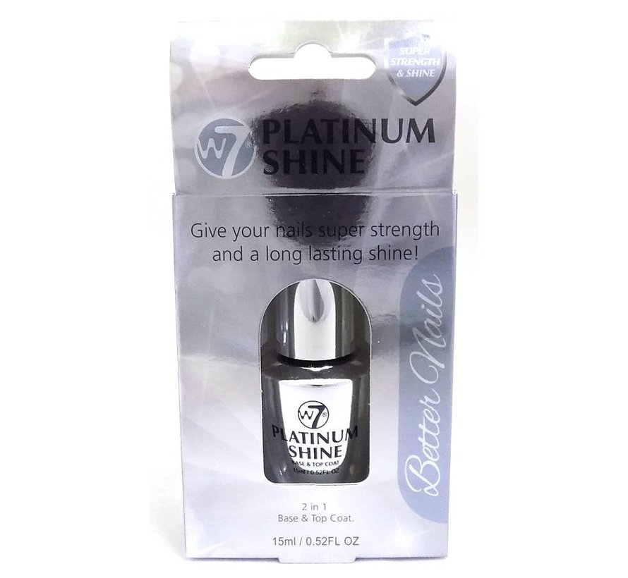Platinum Shine - 2 in 1 Base & Top Coat