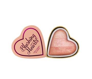 Makeup Revolution Blushing Hearts Blusher Peachy Pink Kisses