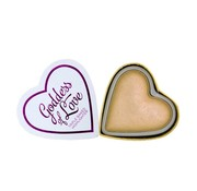 Makeup Revolution Blushing Hearts Highlighter Golden Goddess
