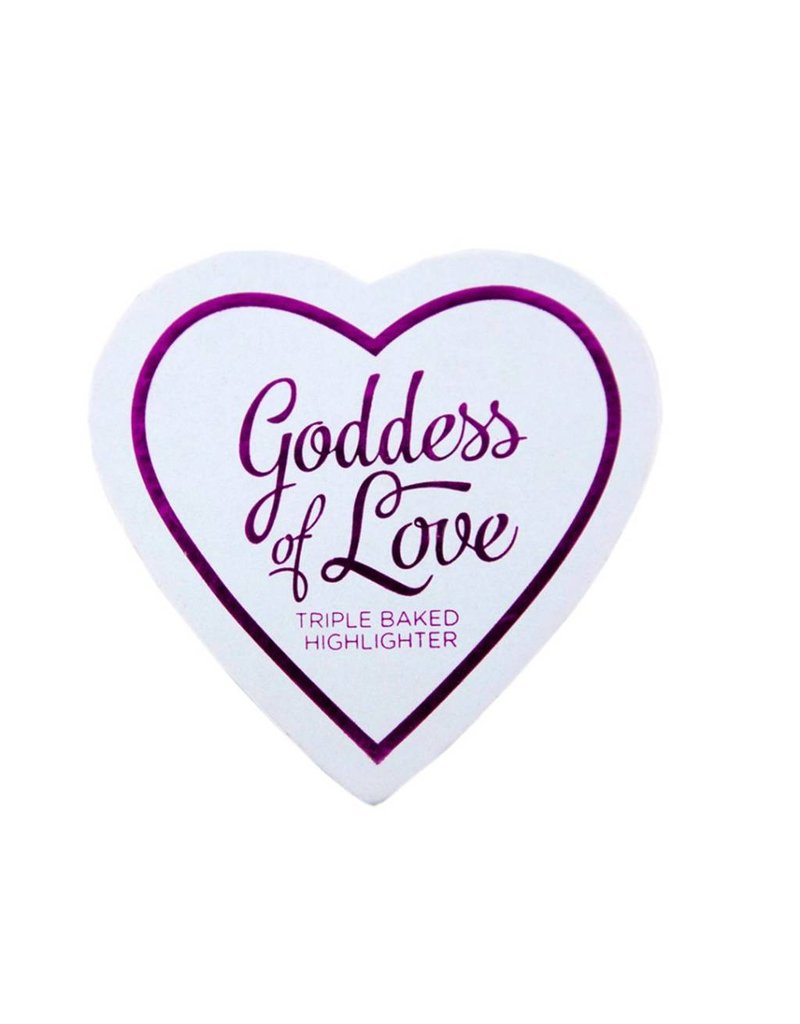Makeup Revolution Blushing Hearts Highlighter Golden Goddess - Highlighter
