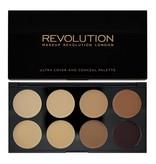 Makeup Revolution Ultra Cover and Concealer Palette - Medium/Dark - Concealer