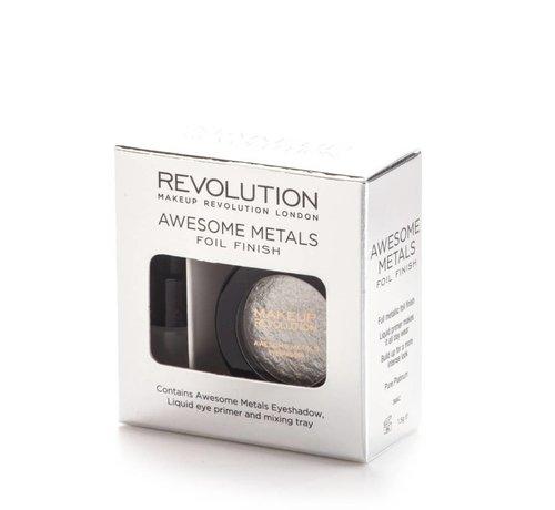 Makeup Revolution Awesome Metals Eye Foils - Pure Platinum - Oogschaduw
