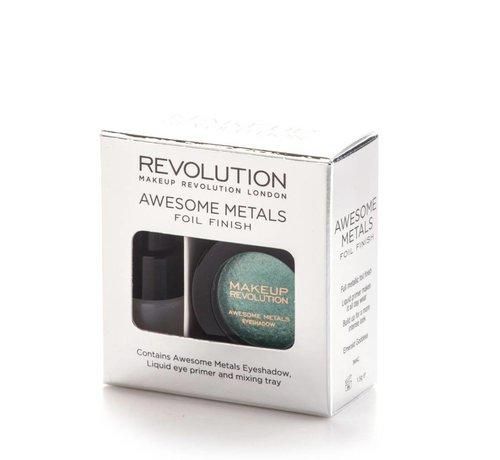 Makeup Revolution Awesome Metals Eye Foils - Emerald Goddess - Oogschaduw
