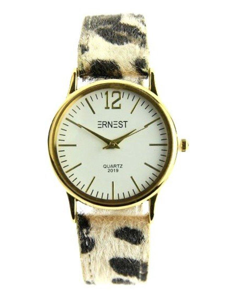 Ernest Leo Watch Beige - Horloge