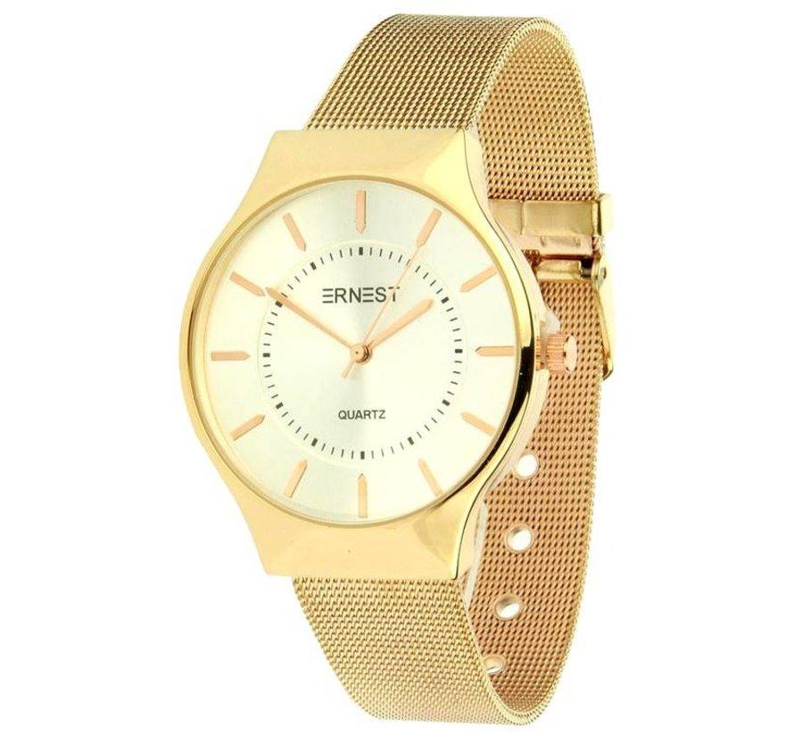 Just In Time - Rose Zilver - Horloge
