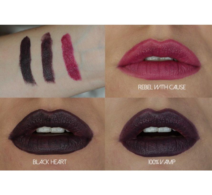 Lipstick Vamp Collectie - Black Heart - Lippenstift
