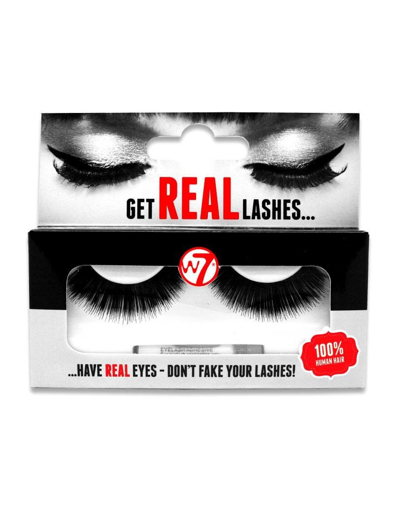 W7 Make-Up Get Real Lashes - 01 - Nepwimpers