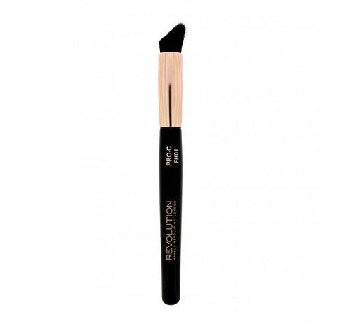 Makeup Revolution Pro Curve Contour Blush & Highlighter Brush - Kwast