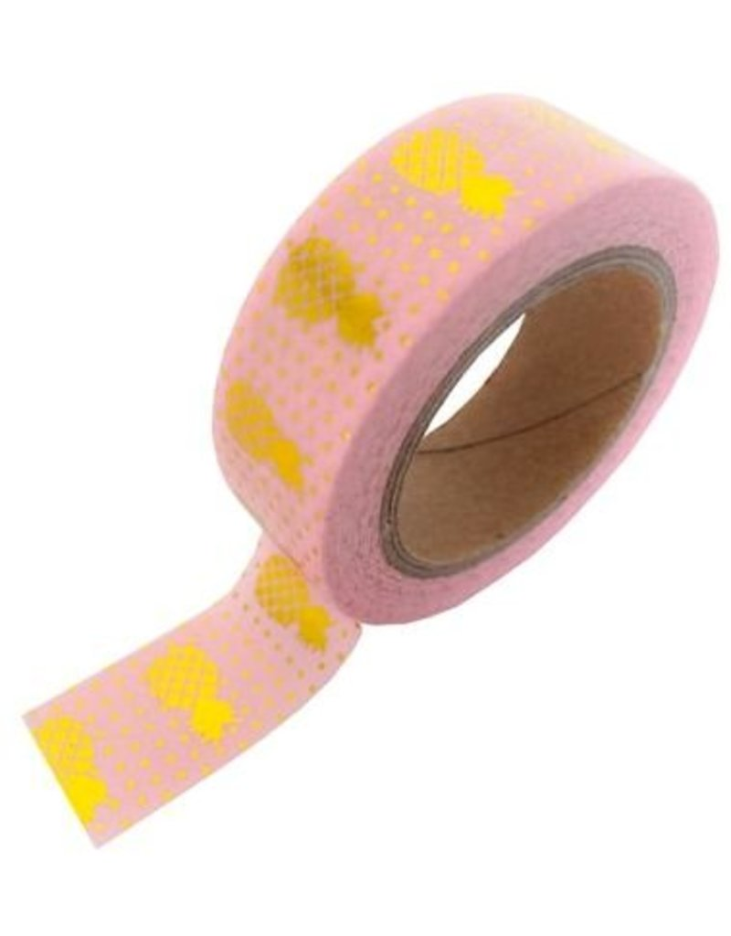 Stationery Masking Tape - Pink Gold Pineapple