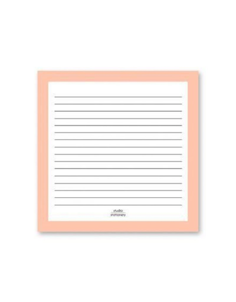 Stationery Square Notes Pink