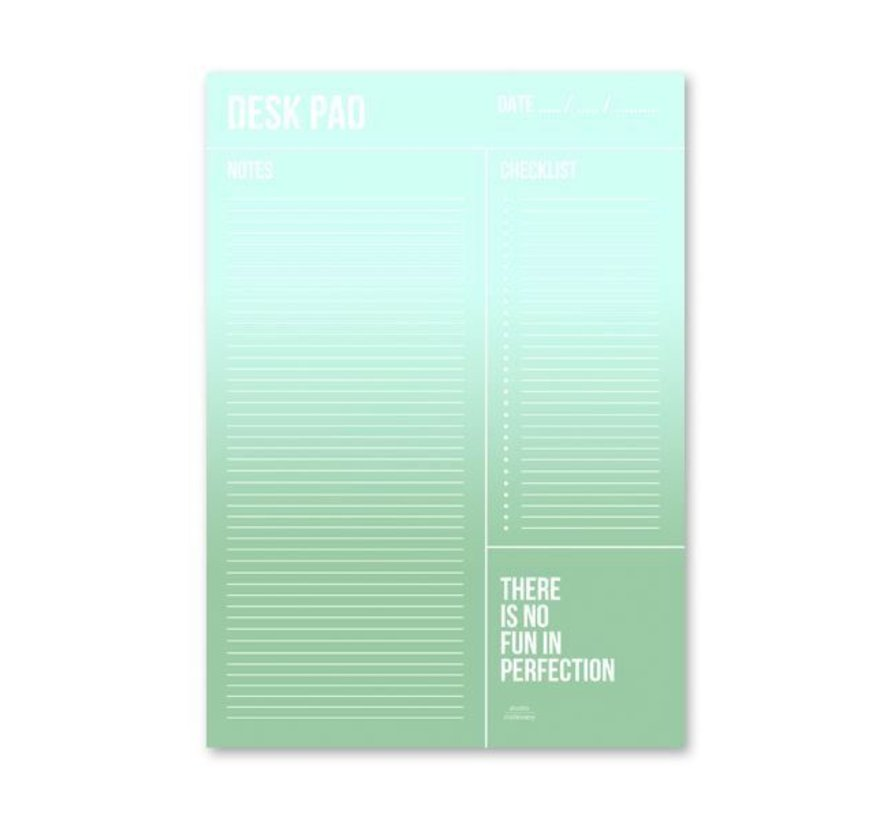 Stationery Minty Desk Planner