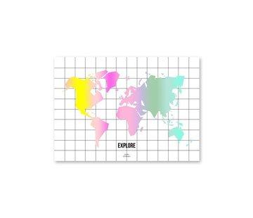 Stationery Taste The Rainbow World Map