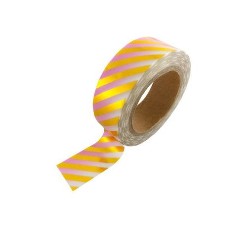 Stationery Masking Tape - Pink Gold Foil