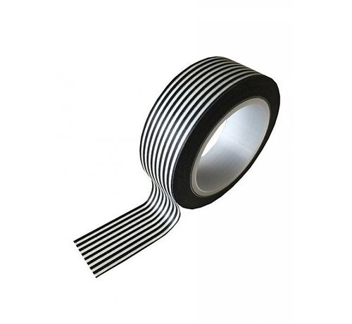 Stationery Masking Tape - Black Stripes