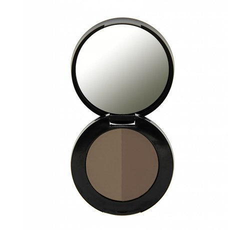 Freedom Makeup Duo Eyebrow Powder - Soft Brown