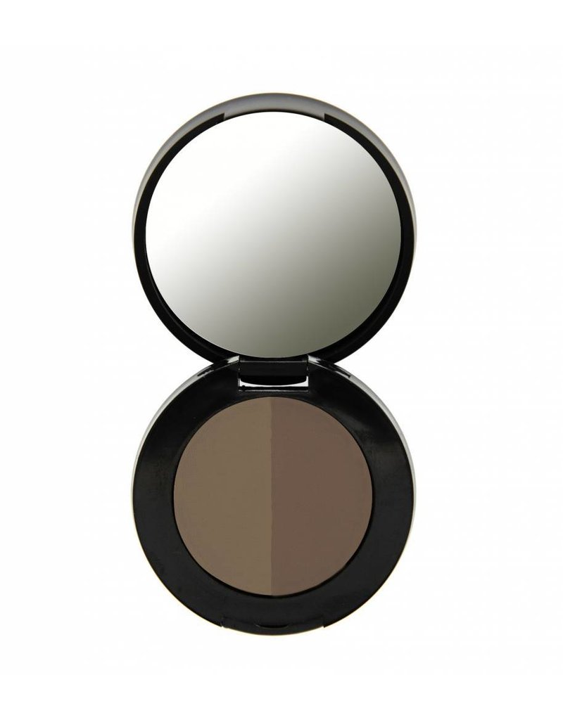 Freedom Makeup Duo Eyebrow Powder - Soft Brown