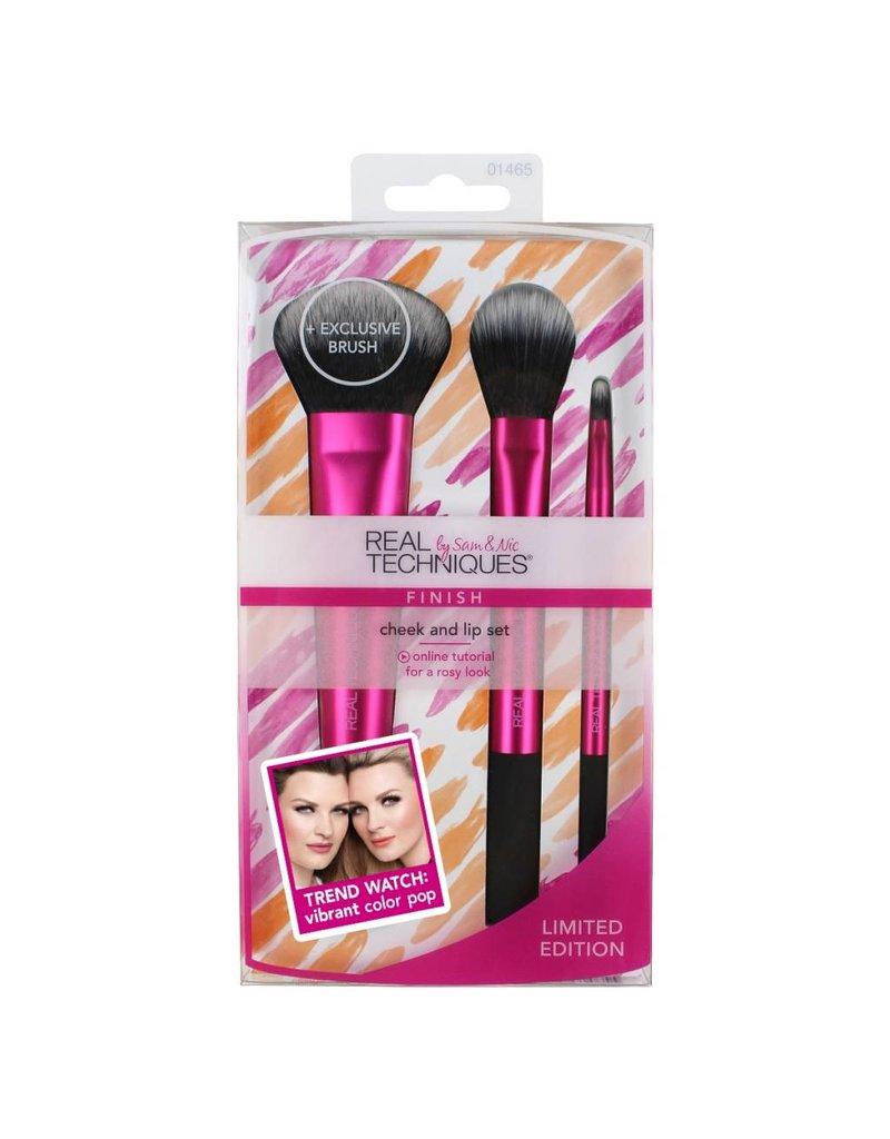 Real Techniques Cheek and Lip Set - Kwastenset