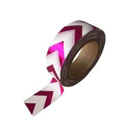 Stationery Masking Tape - Pink ZigZag