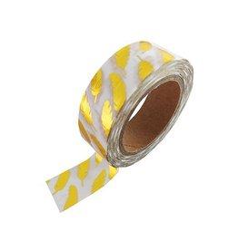 Stationery Masking Tape - Gold Feathers