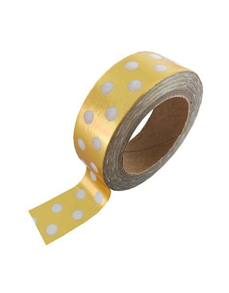Masking Tape - Gold & White Dotted
