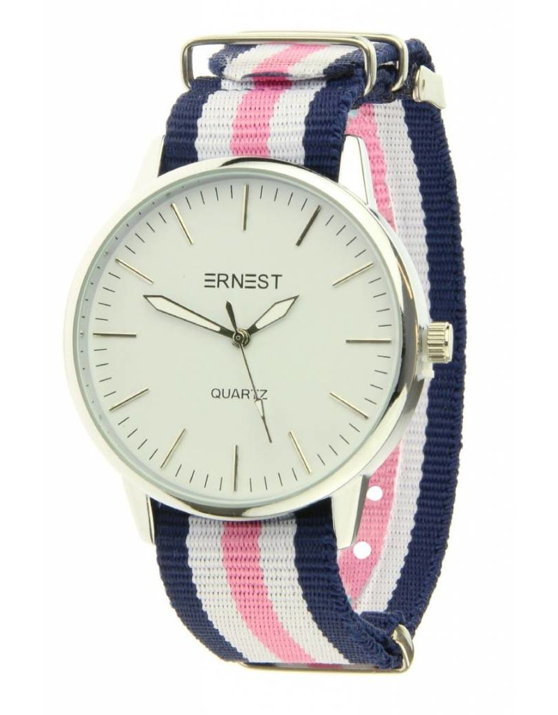 Ernest Striped - Blue White Pink