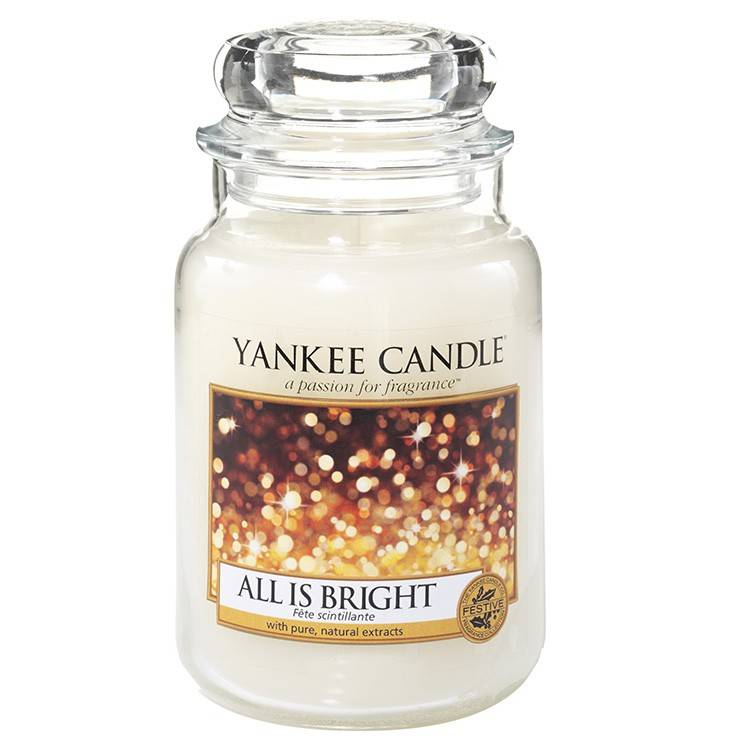 Yankee Candle All Is Bright Large Jar Make Up Musthaves