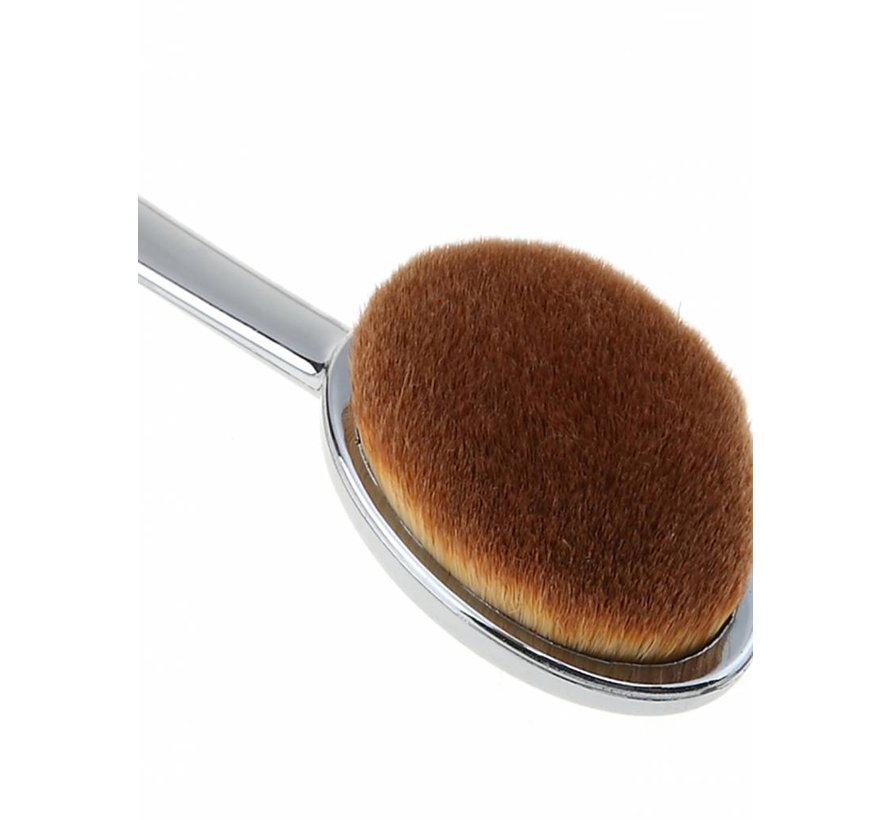 Silver Oval Brush