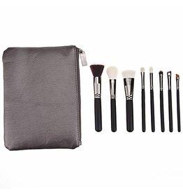 Brush Set 8 Piece Metallic Black