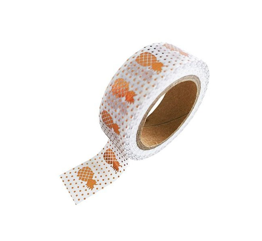 Stationery Masking Tape - Copper Pineapples