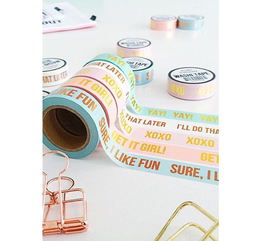 Stationery Masking Tape - XOXO