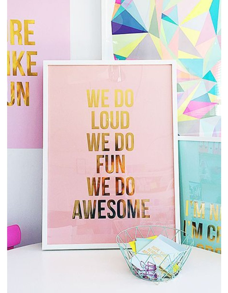 Stationery We Do Loud Poster